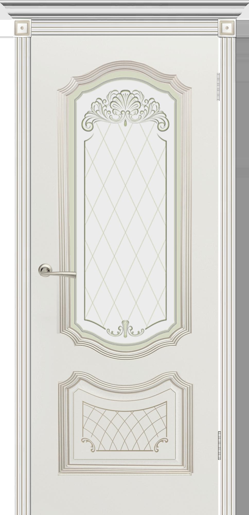Гранада эмаль белая + патина «белое золото» (остекл.)
